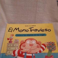 Libros de segunda mano: LIBRO JUGUETE EL MONO TRAVIESO. Lote 205886762