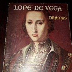 Libros de segunda mano: LIBRO 1850 DRAMAS LOPE DE VEGA AUTORES QUE DEBEMOS LEER. Lote 206118053