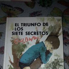 Libros de segunda mano: EL TRIUNFO DE LOS SIETE SECRETOS. ENYD BLYTON. SEGUNDA EDICION JUVENTUD DE 1968.. Lote 206149742