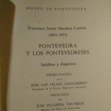 Libros de segunda mano: PONTEVEDRA Y LOS PONTEVEDRESES. Lote 206187268