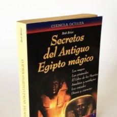 Libros de segunda mano: SECRETOS DEL ANTIGUO EGIPTO MÁGICO - BOB BRIER - MAGOS, PIRÁMIDES, DIOSES, AMULETOS, SORTILEGIOS. Lote 206192023