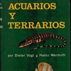 Libros de segunda mano: ACUARIOS Y TERRARIOS. Lote 206207631