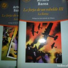 Libros de segunda mano: LA FORJA DE UN REBELDE, ARTURO BAREA, 3 LIBROS, ED. EL MUNDO. Lote 206215447