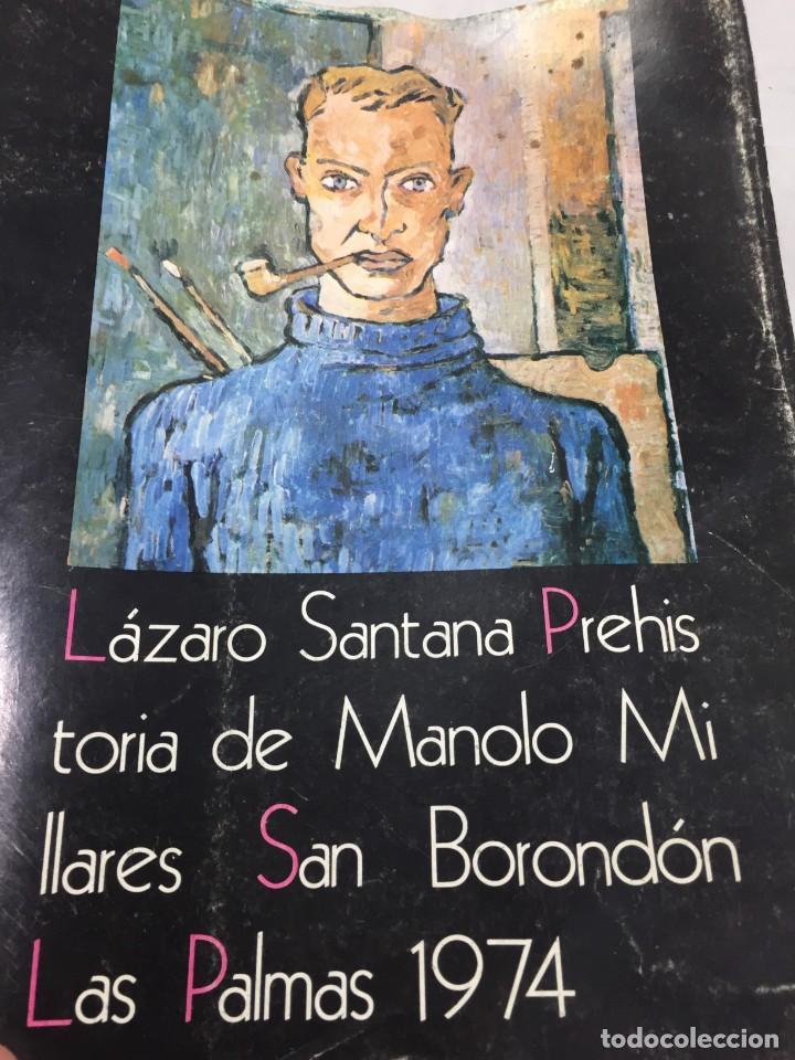 PREHISTORIA DE MANOLO MILLARES. LÁZARO SANTANA. SAN BORONDÓN. EL MUSEO CANARIO CSIC. 1974 LAS PALMAS (Libros de Segunda Mano - Bellas artes, ocio y coleccionismo - Otros)
