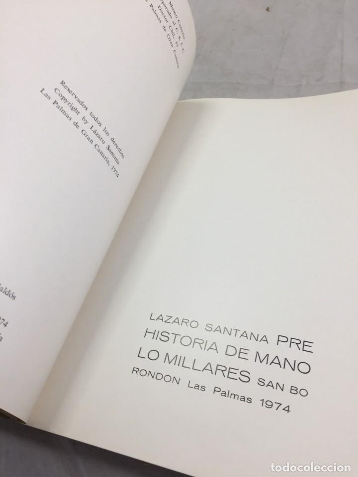 Libros de segunda mano: Prehistoria de Manolo Millares. Lázaro SANTANA. San Borondón. El Museo Canario CSIC. 1974 Las Palmas - Foto 3 - 206215841