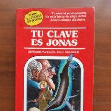 Libros de segunda mano: TU CLAVE ES JONAS. TIMUN MAS. TU AVENTURA.. Lote 206234203