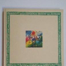 Libros de segunda mano: MANIFESTO OF CHILDREN'S LIVING NEEDS. MANIFESTO DELLE ESIGENZE ABITATIVE DEI BAMBINI. TDK197. Lote 206261831