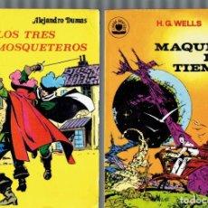 Libros de segunda mano: LIBROS GRAFICOS 3 COMICS AÑO 1982 LA ISLA DEL TESORO,LOS TRES MOSQUETEROS,LA MAQUINA DEL TIEMPO. Lote 206295337