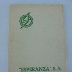 Libros de segunda mano: ESPERANZA S.A. FABRICA DE VIDREO. PATENTES ELECTRO VERRE. SAN ILDEFONSO. IMP. COLLANTES RUBIO. Lote 206360117