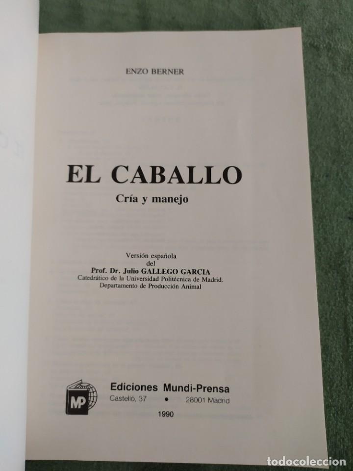 Libros de segunda mano: 1990. El caballo, cría y manejo. Dedicado por el traductor (Catedrático). - Foto 4 - 206367830