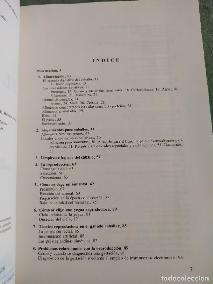 Libros de segunda mano: 1990. El caballo, cría y manejo. Dedicado por el traductor (Catedrático). - Foto 5 - 206367830