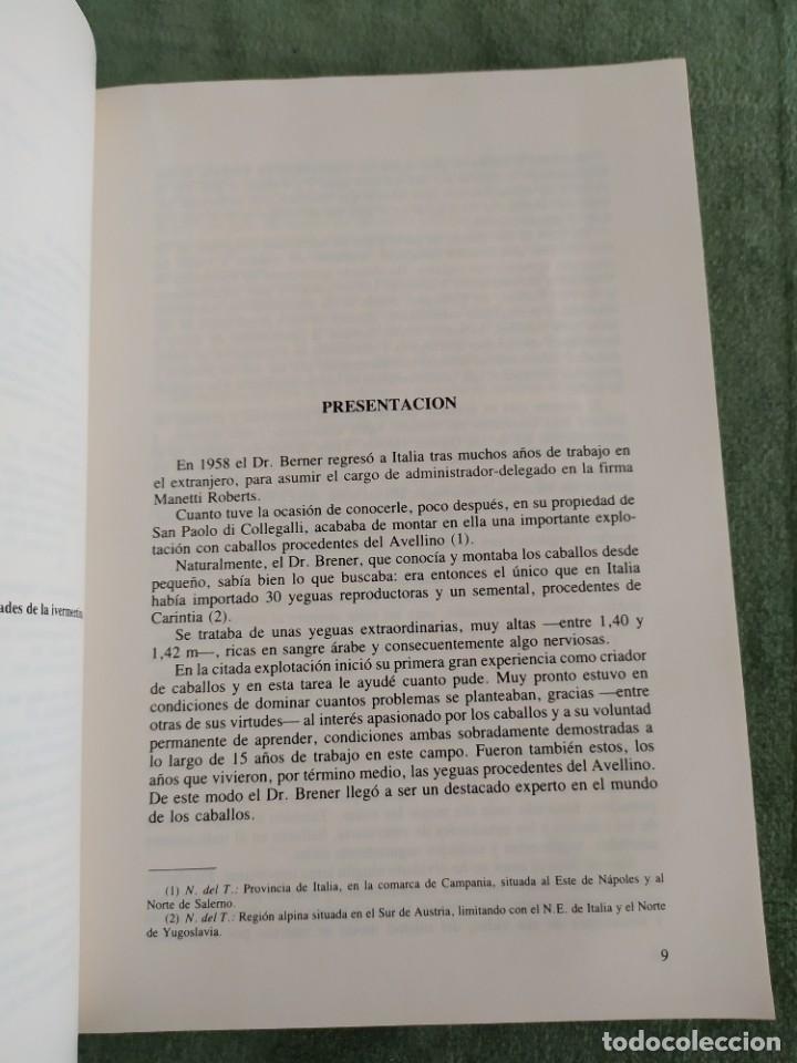 Libros de segunda mano: 1990. El caballo, cría y manejo. Dedicado por el traductor (Catedrático). - Foto 7 - 206367830
