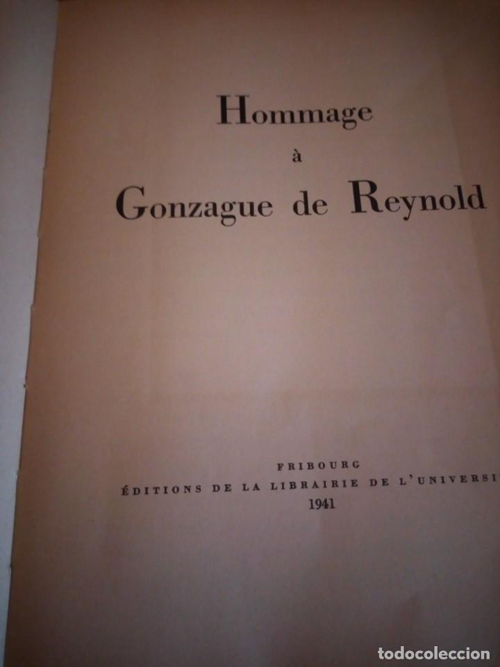 Libros de segunda mano: hommage a gonzague de reynold,fribourg 1941 - Foto 5 - 206369731