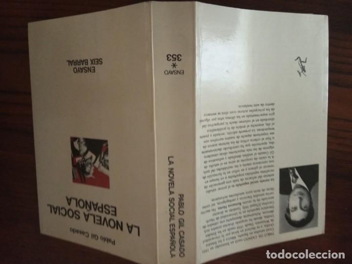 Libros de segunda mano: LA NOVELA SOCIAL ESPAÑOLA-PABLO GIL CASADO. - Foto 2 - 206393988