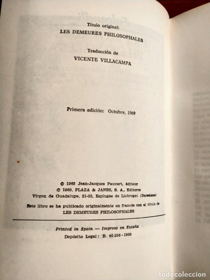 Libros de segunda mano: Libro. Las moradas filosofales. Fulcanelli. Plaza y Janés. Año 1969. Buen estado. - Foto 2 - 206396313