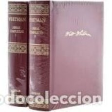 Libros de segunda mano: WALT WHITMAN - OBRAS COMPLETAS - AGUILAR - 2 VOLS. COMPLETA. Lote 206502703