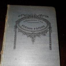 Libros de segunda mano: LIBRO 1410 FUEGOS FATUOS NOVELAS A HERNANDEZ CATA. Lote 206503171
