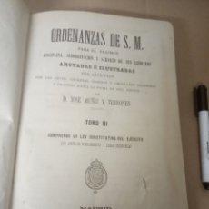 Libros de segunda mano: ORDENANZAS DE SU MAJESTAD.....1880...900 PAGINAS. Lote 206596210