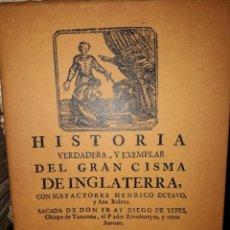 Libros de segunda mano: HISTORIA DEL GRAN CISMA DE INGLATERRA. Lote 206799322