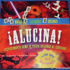 Libros de segunda mano: ¡ALUCINA! MAGIA, ILUSIONES Y ENIGMAS - LIBRO POP-UP - CÍRCULO DE LECTORES (2010). Lote 206813011