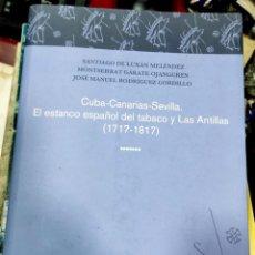 Libros de segunda mano: CUBA-CANARIAS-SEVILLA . EL ESTANCO ESPAÑOL DEL TABACO Y LAS ANTILLAS, 1717-1817. Lote 206813283