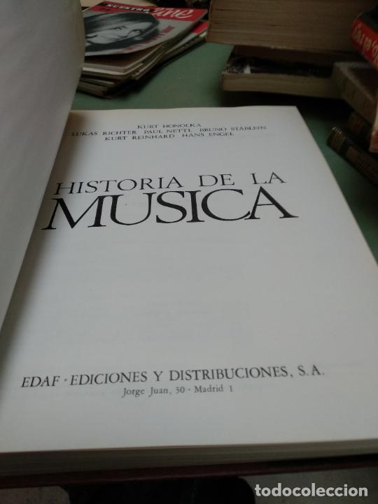 Libros de segunda mano: Música . Historia de la música Kurt Honolka Edaf ediciones - Foto 2 - 206827938