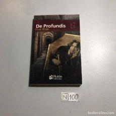 Libros de segunda mano: DE PROFUNDIS. Lote 206846013