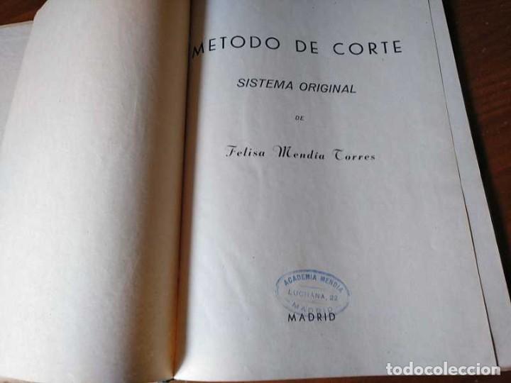 Libros de segunda mano: METODO DE CORTE SISTEMA ORIGINAL FELISA MENDIA TORRES MADRID PRESENTACION PROVISIONAL1942 CONFECCION - Foto 108 - 206904892