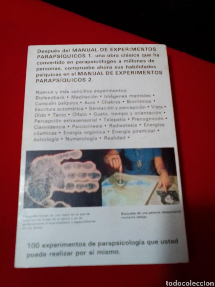Libros de segunda mano: MANUAL DE EXPERIMENTOS PARAPSICOLOGICOS 2. - Foto 3 - 206961273