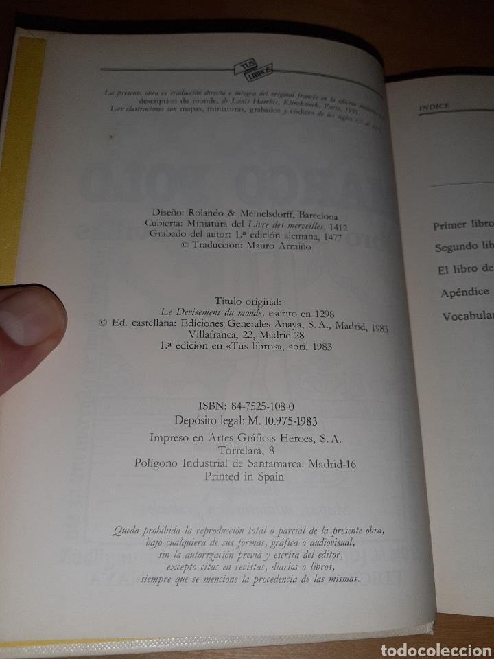 Libros de segunda mano: Marco polo libro de las maravillas. Tus libros. Anaya. Ver fotos y descripción - Foto 3 - 206963695