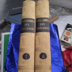 Libros de segunda mano: COSTUMBRES DEL UNIVERSO TRADICIONES RITOS VIDA SUPERSTICIONES DE LOS PUEBLOS ABORÍGENES DOS TOMOS. Lote 207006505