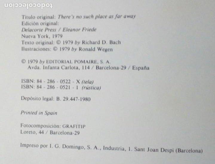 Libros de segunda mano: NINGUN LUGAR ESTA LEJOS. RICHARD BACH. POMAIRE 1980. ILUSTRADO POR RON WEGEN. - Foto 5 - 207010736