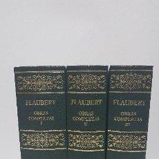 Libros de segunda mano: FLAUBERT - OBRAS COMPLETAS, TOMO I-II-III (EDICIÓN COMPLETA EN 3 TOMOS) EDITORIAL AGUILAR. Lote 207017995
