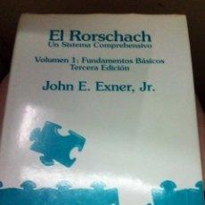 Libros de segunda mano: EL RORSCHACH UN SISTEMA DE COMPRENSIVO VOLUMEN 1 JOHN E EXTER, JR.. Lote 207028273