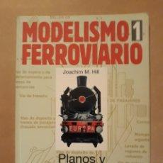 Libros de segunda mano: LIBRO MODELISMO FERROVIARIO 1. PLANOS Y PROYECTOS. EDITORIAL CÚPULA.. Lote 207124785