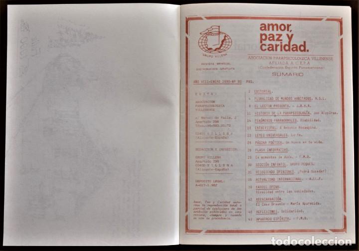 Libros de segunda mano: LOTE 91 BOLETINES AMOR, PAZ Y CARIDAD ASOCIACIÓN PARASICOLÓGICA DE VILLENA (ALICANTE) DE 1989 A 2001 - Foto 5 - 207128316