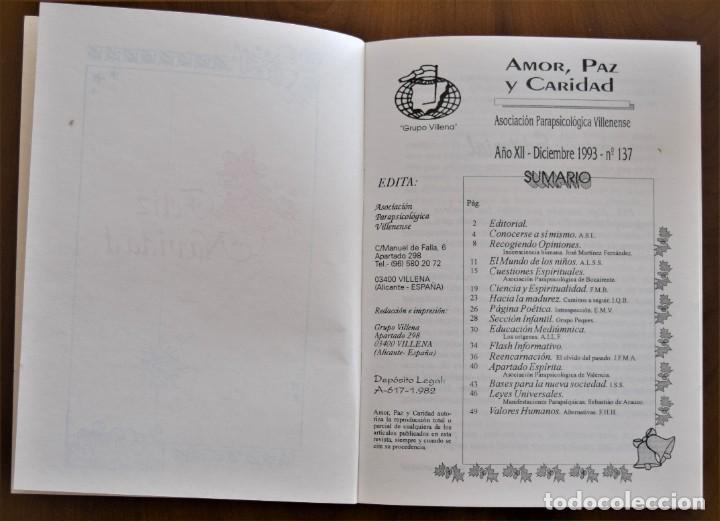 Libros de segunda mano: LOTE 91 BOLETINES AMOR, PAZ Y CARIDAD ASOCIACIÓN PARASICOLÓGICA DE VILLENA (ALICANTE) DE 1989 A 2001 - Foto 9 - 207128316