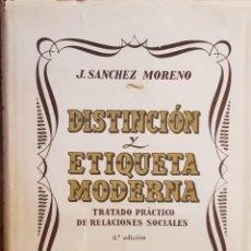 Libros de segunda mano: DISTINCION Y ETIQUETA MODERNA - TRATADO PRACTICO DE RELACIONES SOCIALES. Lote 207135438