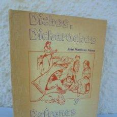 Libros de segunda mano: DICHOS, DICHARACHOS Y REFRANES MEXICANOS. JOSE MARTINEZ PEREZ. EDITORES MEXICANOS UNIDOS 1977. Lote 207217302