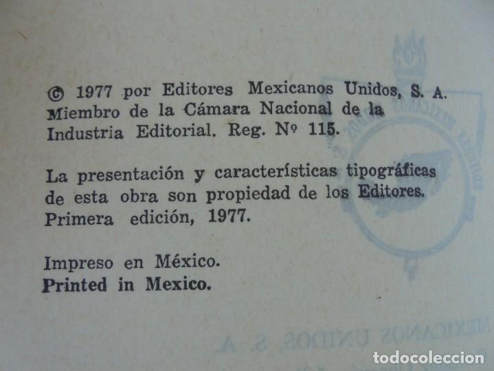 Libros de segunda mano: DICHOS, DICHARACHOS Y REFRANES MEXICANOS. JOSE MARTINEZ PEREZ. EDITORES MEXICANOS UNIDOS 1977 - Foto 8 - 207217302