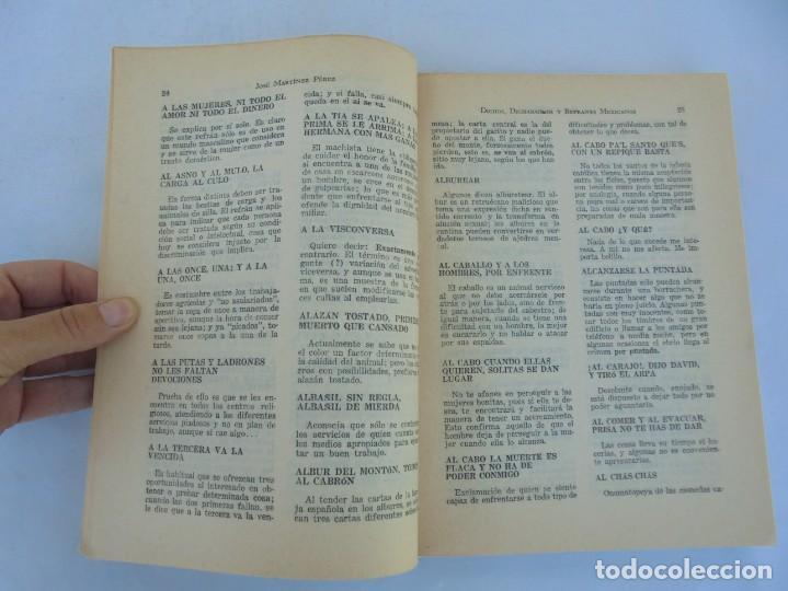 Libros de segunda mano: DICHOS, DICHARACHOS Y REFRANES MEXICANOS. JOSE MARTINEZ PEREZ. EDITORES MEXICANOS UNIDOS 1977 - Foto 9 - 207217302