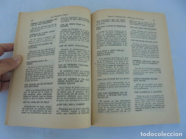 Libros de segunda mano: DICHOS, DICHARACHOS Y REFRANES MEXICANOS. JOSE MARTINEZ PEREZ. EDITORES MEXICANOS UNIDOS 1977 - Foto 11 - 207217302