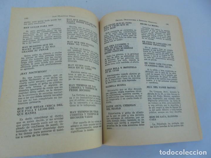 Libros de segunda mano: DICHOS, DICHARACHOS Y REFRANES MEXICANOS. JOSE MARTINEZ PEREZ. EDITORES MEXICANOS UNIDOS 1977 - Foto 12 - 207217302