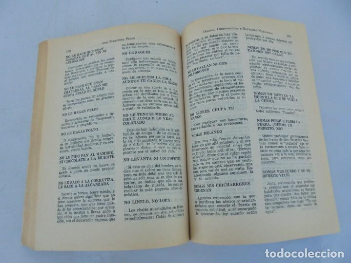 Libros de segunda mano: DICHOS, DICHARACHOS Y REFRANES MEXICANOS. JOSE MARTINEZ PEREZ. EDITORES MEXICANOS UNIDOS 1977 - Foto 13 - 207217302