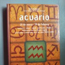 Libros de segunda mano: LIBRO ACUARIO DORIS SALTARINI EDITORIAL DE VECCHI HOROSCOPO ZODIACO. Lote 207301113