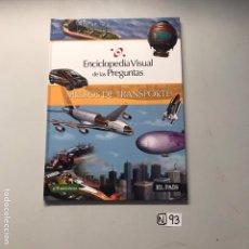 Libros de segunda mano: MEDIOS DE TRASPORTE. Lote 207518536
