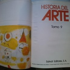 Libros de segunda mano: HISTORIA DEL ARTE - TOMO 9 -VER FOTOS. Lote 207551966
