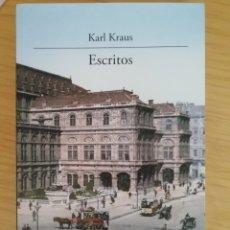 Libri di seconda mano: KARL KRAUS, ESCRITOS. Lote 207619495