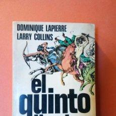 Libros de segunda mano: EL QUINTO JINETE NOVELA. DOMINIQUE LAPIERRE. LARRY COLLINS. EDITORES PLAZA & JANES,S.A.. Lote 207698652