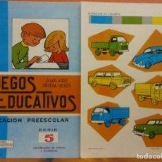 Livros em segunda mão: JUEGOS EDUCATIVOS Nº5. EDUCACION PREESCOLAR. IDENTIFICACON DE COLORES Y POSICIONES. JUAN JOSE ORTEGA. Lote 207730540